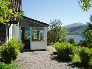 Dunlachlan garden and view over Loch Sunart